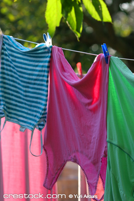 Colorful Clothes for drying
