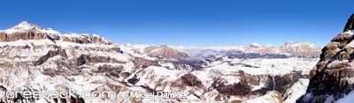 Panorama of Dolomiti mountains, Italy