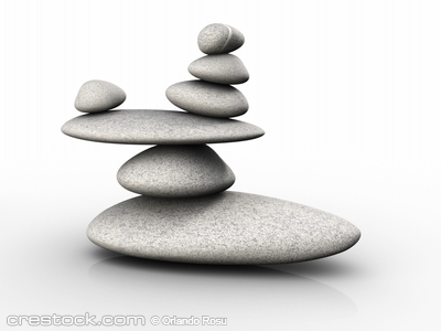 Structure of stones arranged in balance - 3d r...
