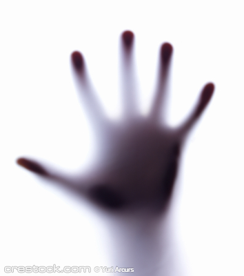Diffuse image of a hand as if it is pushing up...