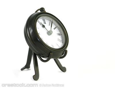 classic clock isolated