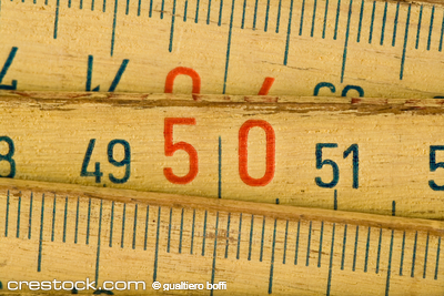 close up of wood meter tool